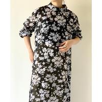 1980s Handmade See-througt Mock-neck Dress