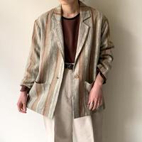1960s Linen Striped Jacket (Beg/Brw)