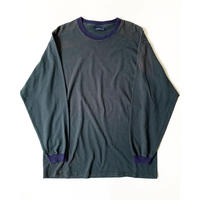 ASIS - 1990s Basic Edition L/S Tshirts (Green/Navy)