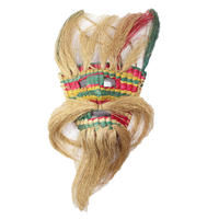 Vintage Straw  Woven Mask