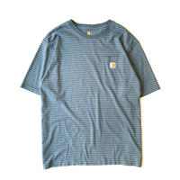 2000s Carhartt Border Pocket T-shirt / Blue gray