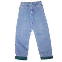 1990s L.L.Bean Fleece Lining Denim Pants