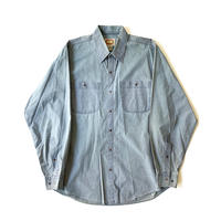 1980s Banana Republic Snap Button Shirts (Sax)