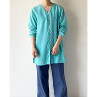 1980s Turquoise Silk Shirts