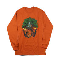 NOROLL Earth Light L/S Tee artwork by Daisuke Murai / Orange
