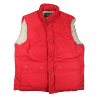 1980s Eddie Bauer Gore-Tex Shell Down Vest  (RED)