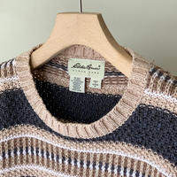 1990s Eddie Bauer Striped Cotton Knit