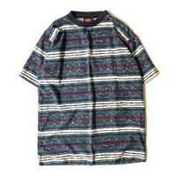 1990s FADED GLORY Patterned Striped Big T-shirts