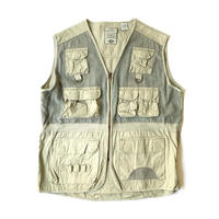 1980s Bugle Boy Cotton Ramie Vest (Gray)