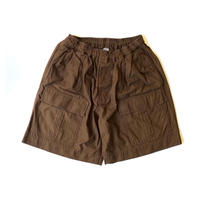 COMFORTABLE REASON / Safari Shorts (Brown)