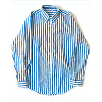 -Dead Stock- 1980s Saks Fifth Avenue Striped Shirts (Blue)