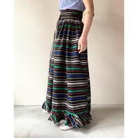 1960s Striped Wrap Skirts