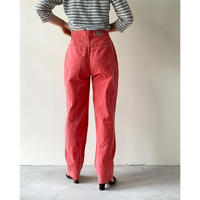 1980s taly Faded Red Tapered Pants