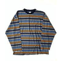 Multi Striped L/S Tshirts(Nvy/Gray/Orange)