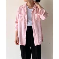 1990s Pink Silk Open Collar Shirts