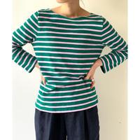 Boat Neck Striped L/S Tshirts