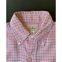 1980s L.L.Bean Tattersall check Shirt - White/Red /Black (M)