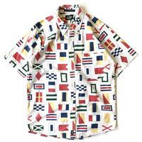 1980s Dockers Flag Pattern B/D Shirts
