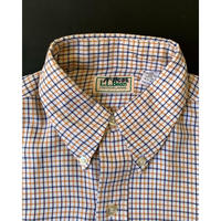 1980s L.L.Bean Tattersall check Shirt - White/Yellow /Navy