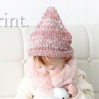 *SALE*ふわふわ とんがりニット帽子 3color
