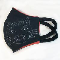 燐のガーゼマスク おさかな猫