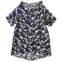 燐シャツ 半袖 〈夜桜〉