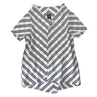 燐シャツ 半袖 〈シルクストライプ〉