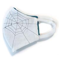 燐のガーゼマスク 蜘蛛の巣 白
