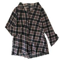 燐シャツ 七分袖 〈チェック〉