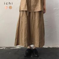 ichi 210125 フレンチリネンシャンブレースカート