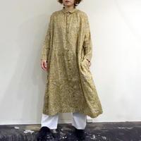 ichiAntiquites 601206 リネンフラワーシャツドレス