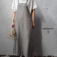 sabbatum(サバタム) SA-27012 コットンリネンバックスリットサロペット