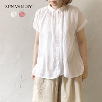 sunvalley SK5001216 ボイルフレンチギャザーシャツ
