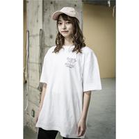 Connecting the dots  / スカルマリア バックプリントTシャツ ホワイト