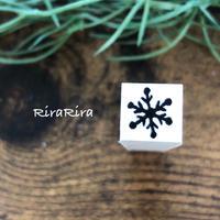 【雪の結晶】パターンはんこ*10㎜角