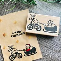 チャリトナカイと岩井サンタのクリスマス*ラバースタンプ