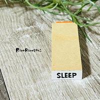 【SLEEP(睡眠)】英字スケジュール文字はんこ*8㎜×20㎜