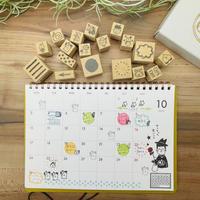 【箱付!】RiraRiraカレンダーデコはんこ18個セット*12か月分+カレンダーデコ用6種*