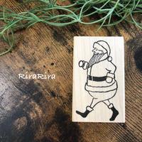 【クリスマス】歩くサンタ*ラバースタンプ