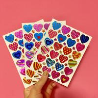 ハート 模様 ② シール 3枚セット heart pattern sticker
