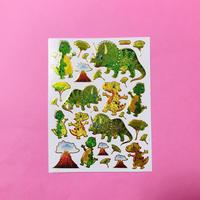 恐竜 ⑦ キラキラ シール  DINOSAUR STICKER