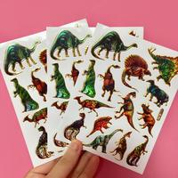 恐竜 キラキラ シール 3枚セット ②  DINOSAUR STICKER