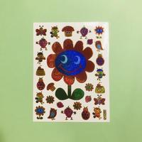 お花と仲間たち キラキラ シール FLOWER AND FRIENDS STICKER