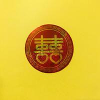 ダブルハピネス 丸 シール ゴールド  DOUBLE HAPPINESS STICKER GOLD