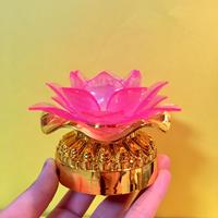 蓮の花 ランプ ピンク