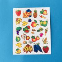 フルーツ キラキラ シール  ① FRUIT STICKER