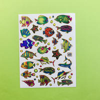 魚 ネオン キラキラ シール NEON FISH STICKER