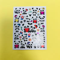 パンダ キラキラ シール ④ PANDA STICKER