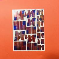 アメリカ 国旗 キラキラ シール USA FLAG STICKER