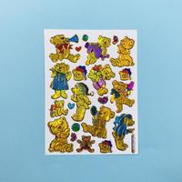 金色のクマ キラキラ シール  GOLD COLOR BEAR STICKER